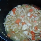Slow Cooker Chicken and Noodles - This is a wonderfully easy soup to cook while at work or on a busy day! This can be 'soupy' with more broth; or sometimes I like to thicken the juice with a little water and cornstarch mixture and let cook till thick.  Then it is good served over mashed potatoes!  Enjoy!!
