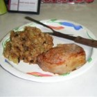 Baked Pork Chops with Apple Raisin Stuffing