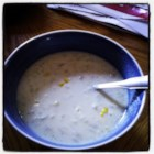 Atlantic Corn Chowder - Just potatoes, onion, evaporated milk and creamed corn in this quick and easy chowder.