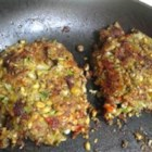 'Meat's Too Expensive!' Vegetarian Burgers - Veggie burgers made with lentils, wheat germ, mozzarella cheese, and plenty of seasoning are a tasty and cheaper way to enjoy a 'burger' sandwich.
