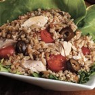 Provencal Rice Salad - This delicious rice salad with tuna, olives, and cherry tomatoes makes a quick lunch for two.