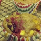Peach and Cranberry Muffins - Use up peaches and cranberries with this recipe for delicious peach cranberry muffins.