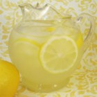Thirst Quenching Lemonade - Simple syrup is made by boiling water and sugar together. This syrup is then mixed with lemon juice and ice water for a thirst quenching beverage.
