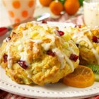 Pear Cranberry Scones - Chopped fresh pears, dried cranberries, and orange zest make delicious scones for breakfast, brunch, or tea time.