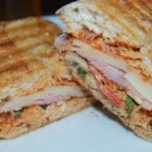 Deluxe Pizza Panini - A grilled pizza-flavored panini with ham and salami is a creative way to jazz up the boring sandwich and predictable pizza.