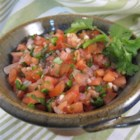 LittleBitFae's Fresh Tomato Salsa - Fresh tomatoes and plenty of jalapeno pepper deliver a deliciously refreshing summer-time treat in this salsa recipe.