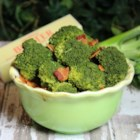 Steamed Broccoli - Steamed broccoli mixed with bacon and butter is a tasty side dish that is quick and easy to prepare.