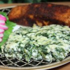 Cottage Cheese Bake - Just cottage cheese, Parmesan cheese, eggs, and spinach in this simple baked side dish with a pleasing flavor.
