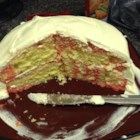 Pop Cake - This variation of the poke cake uses raspberry gelatin and lemon-lime soda to make it extra moist.  Serve it straight from the fridge.
