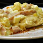 Quick Creamed Ham and Eggs - Make this creamed ham and eggs recipe for your next breakfast for a nice morning treat.