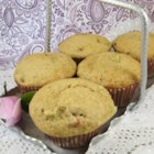 Tuxedoville's Rhubarb Muffins - Rhubarb is an abundant producer, and these yummy muffins are a great way to use some up quickly.