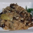 Portofino Lamb and Artichoke Risotto - Stir up a magnificent risotto using leftover lamb, onions and artichoke hearts. Use only genuine Italian Arborio rice, available in the specialty section of most grocery stores. The finished dish should be slightly soupy so that it can pour from the pot.