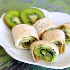 Kiwi Wraps or Rolls - Mix up your back to school lunches with this refreshing kiwi wrap.