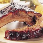 Kansas City Style Pork Back Ribs - These Kansas City-style pork back ribs are a little spicy, a little sweet, and grilled to tender, juicy perfection.