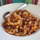 Ed's Macaroni Jumble - Kids love this macaroni dish packed with pasta, cheese, beef, and corn.