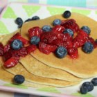 Gluten Free Protein Pancakes - Gluten-free protein pancakes made with cottage cheese, egg whites, and oats are a quick and easy breakfast. Serve with berries!