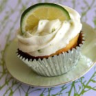 Key Lime Cupcakes - Key lime cupcakes topped with homemade cream cheese frosting flecked with lime zest are a festive dessert for Cinco de Mayo parties.