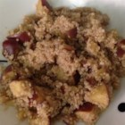 Apple Cinnamon Breakfast Quinoa - Quinoa is simmered in apple juice and chopped apples for a sweet, hearty breakfast to start the day.