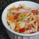 Sweet-and-Sour Coleslaw - Pack in antioxidants. The ultimate in simplicity and refreshing taste, this coleslaw is flecked with green, red and yellow vegetables, the colors signifying the presence of antioxidants (cabbage is thought to have anti-cancer activity). I like its crispy, sweet-and-sour taste, unlike that of a creamy coleslaw.
