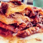 Pizzagna - Just like a pizza but without the crust, this pizza lasagna, pizzagna, will satisfy all of your pizza cravings.