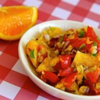 Orange Salsa - This sweet and spicy salsa has chunks of oranges and a bit of ginger root for an exotic and fragrant taste.