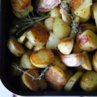 Healthier Oven Roasted Potatoes - Using less olive oil and more fresh herbs, this healthier version of potatoes are roasted to perfection.