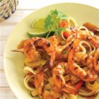 Sizzling Citrus Shrimp Marinade - Lime juice, grated horseradish, and soy sauce make a mouth-watering marinade for shrimp or scallops.