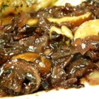 Gunnar and Raven's Burgundy Sauce - This Burgundy wine sauce with portobello mushrooms has plenty of flavor from beef broth and onions and is a perfect topping for grilled steaks.