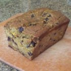 Drunken Chocolate Pumpkin Bread - Creme de cacao helps deliver added moistness to this roasted-pumpkin bread with chocolate chips.