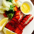 Lobster Tails Steamed in Beer - Steamed lobster tails with a hint of beer. Goes great with melted butter, lemon juice and garlic.