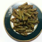 Awesome Green Beans with Kale - Kale adds extra green to this creamy and cheesy green bean side dish flavored with sriracha, garlic, and shallot.
