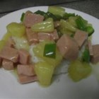 Tahitian Spam(R) - Spam(R) is simmered in a sweet pineapple sauce creating a Tahitian-inspired meal. Serve over a bed of rice.