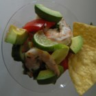 Bloody Mary Ceviche - It's easy to make a zesty shrimp ceviche appetizer when you used cooked shrimp and Bloody Mary drink mix.