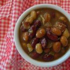Belle's Baked Beans - Sweet and tasty baked beans with sausage, onion and spices.