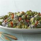 Broccoli Salad from VOSKOS(R) - A few flavorful additions and ingredient swaps change up the basic broccoli-raisin salad. This version takes the fresh side dish into the healthful realm with added dried blueberries and almonds. VOSKOS(R) Nonfat Blueberry Greek Yogurt replaces the mayo.