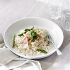 Asparagus and Crab Risotto - Asparagus and crab are two classic items that celebrate spring. Combined in a risotto, they make a knockout duo.