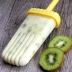 Tropical Kiwi Ice Pops - Tropical kiwi ice pops made with coconut milk and flecks of kiwi, pineapple, and banana are a refreshing treat on hot summer days.