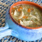 Tarragon Chicken and Rice Soup  - Chicken and rice are simmered in a tarragon-infused broth creating a warm and comforting soup perfect for cold evenings.