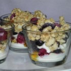 Crunchy Berry Parfait - Layers of berries, yogurt, and granola make a simple kid-pleaser of a back-to-school recipe for quick breakfasts or after-school snacks.