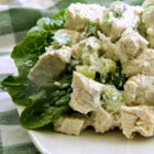 Best Tarragon Chicken Salad - Tarragon chicken salad with a hint of kelp in the yogurt-based dressing is the perfect dish to make for entertaining or barbeques.