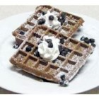 Waffle Iron Brownies - Brownies made on a waffle iron.