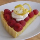 Down Under Lemon Tart - A sweet and tender pastry crust is filled with a tangy lemon curd filling.