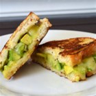 Creamy Jack Grilled Cheese with Fruit-Glazed Avocado - Delicious creamy Monterey Jack cheese melts smoothly over fresh, gently sweetened, cubed avocados on crispy grilled country bread.