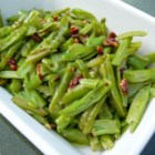 Buttery Pecan Green Beans - This quick and easy side dish is simply steamed green beans tossed with butter and lightly-toasted pecan pieces.