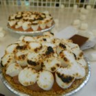 S'more Ice Cream Pie - This no-bake pie, created especially for dads, combines the classic flavors of a campfire s'more: graham crackers, chocolate, and toasted marshmallows. He'll love toasting the marshmallow topping with a blow torch from the toolbox.