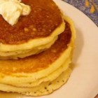 Corn Muffin Pancakes - Quickly whip together a pancake batter with prepared muffin mix, flour, baking powder, egg, and milk.