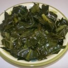 Tasty Collard Greens - A classic recipe for collard greens that uses smoked turkey to add some flavor. Greens are simmered in chicken stock, then spiced with a dash of red chile flakes.