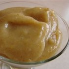 Easy, Low-Sugar Pear Butter - No sieve used here!  This recipe uses all but the core of the pear, and has a nice texture and taste.  Adjust the amount of orange rind to your liking.