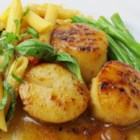 Screaming Martini Scallops - Sea scallops are tossed in a hot skillet with vermouth and capers for a delicate seafood main dish that's great alone or served over pasta.