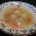 Jewish Chicken Soup - This is a traditional recipe good for anything that ails you.  It's the absolute best when you've got the flu, and it's great the second and third day.  Note, these matzoh balls are 'sinkers'.  These are traditional matzoh balls, as this recipe was passed down from my great-grandmother who needed to make them as heavy as possible to feed a hungry family during lean times. Cut the matzoh meal by 1/2 cup to lighten the load.